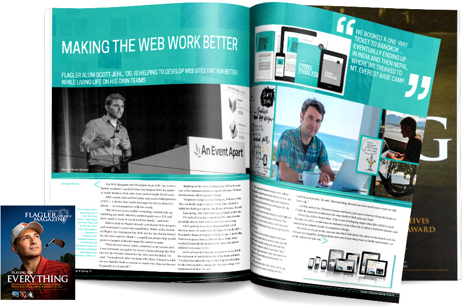 flagler magazine profile spread